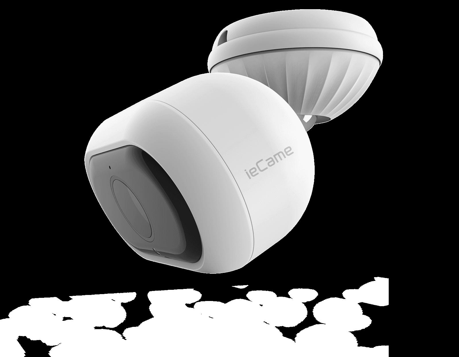 横から見た防水仕様で防犯にも最適な屋外タイプ RS-WFCAM3